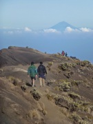 Descente après le sommet du Rinjani