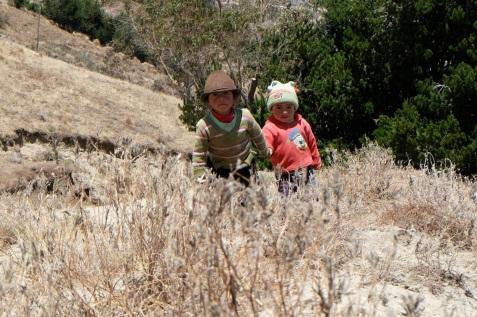 Des enfants équatoriens, Quilotoa loop
