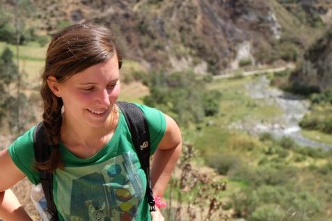 Anne-Charlotte pendant le trek, Quilotoa loop