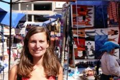 Anne-Charlotte, marché d'Otavalo