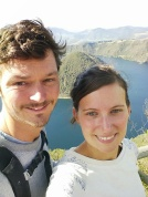 Selfie à la laguna Cuicocha