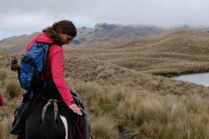 Cahuaisqui : Montagne noire, AC à cheval