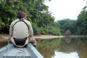Elvis en pirogue, rio Cuyabeno
