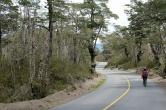 Route longeant le volcan Osorno
