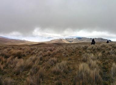 Cahuaisqui : Le temps se couvre a 4500m d'altitude