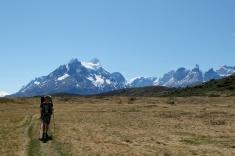 Marche d'approche jusque Paine Grande