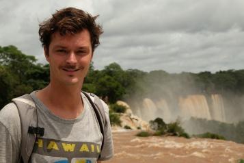 Clement aux chutes d'Iguazu