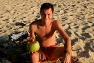 Clement et la coco, Plage de Las Cabanas