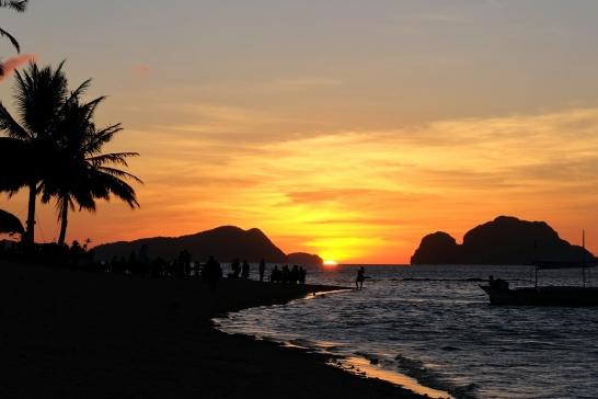 Coucher de soleil à Las Cabanas