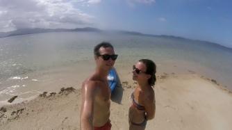Sur l'îlot sablonneux