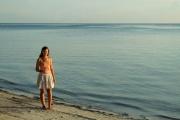 Anne-Charlotte sur la plage