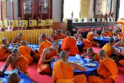 Wat Phra singh, repas des moines