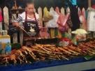 Brochettes au night market