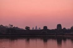 Angkor Wat un peu avant le lever de soleil