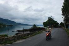Clément sur son scooter