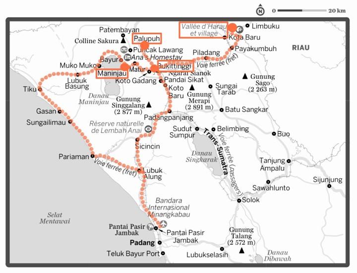 Carte ouest Sumatra