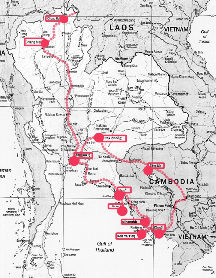 Itinéraire Thaïlande Cambodge