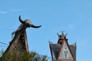 Emblématiques têtes de taureaux