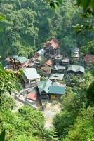 Vue sur Bukit Lawang depuis la jungle