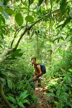 Anne-Charlotte dans la jungle